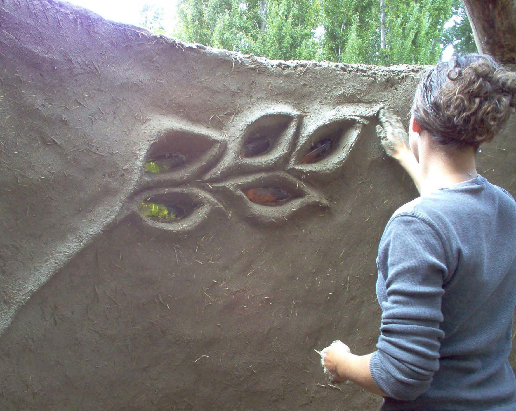 For inspiration . . . beautiful design for cob wall/bench ...