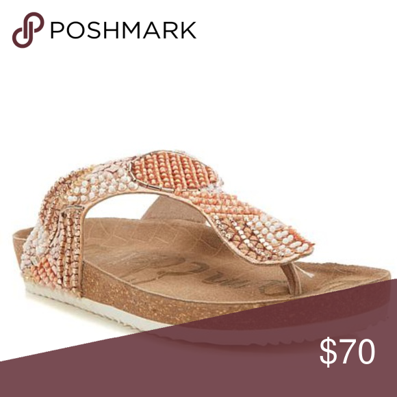 4fc5e2fc07bf Sam Edelman Olivie 4 Beaded Footbed Thong Sandals New without box. Footbed  sandals exude an