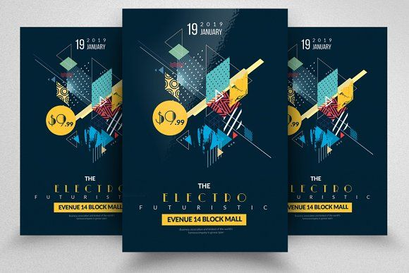 Electro Flyers By Psd Templates On Creativemarket  Workstuff