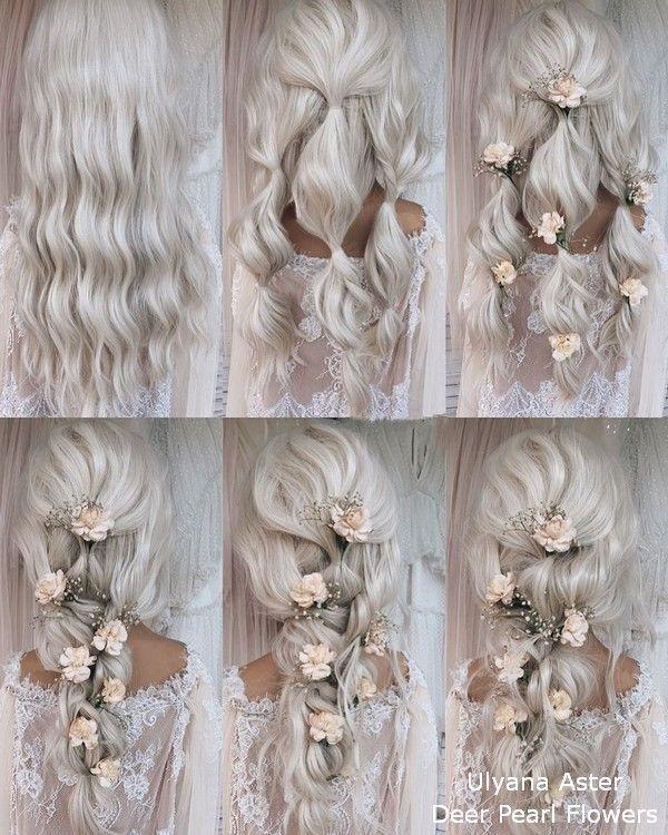18 tutoriales para peinados de novia para novias y damas de honor # novias # damas de honor #diy …