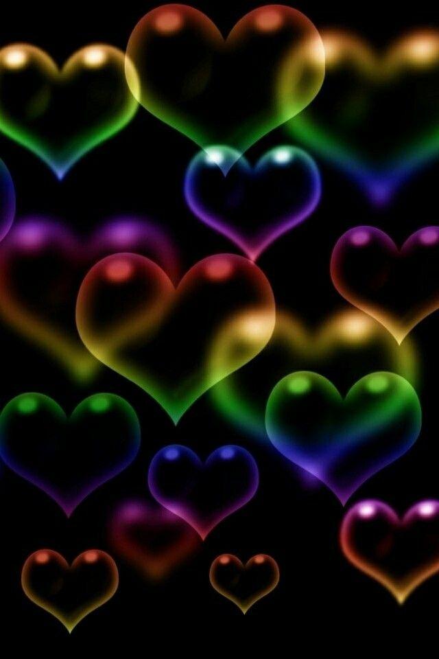 colorful hearts hearts rainbow heart heart wallpaper