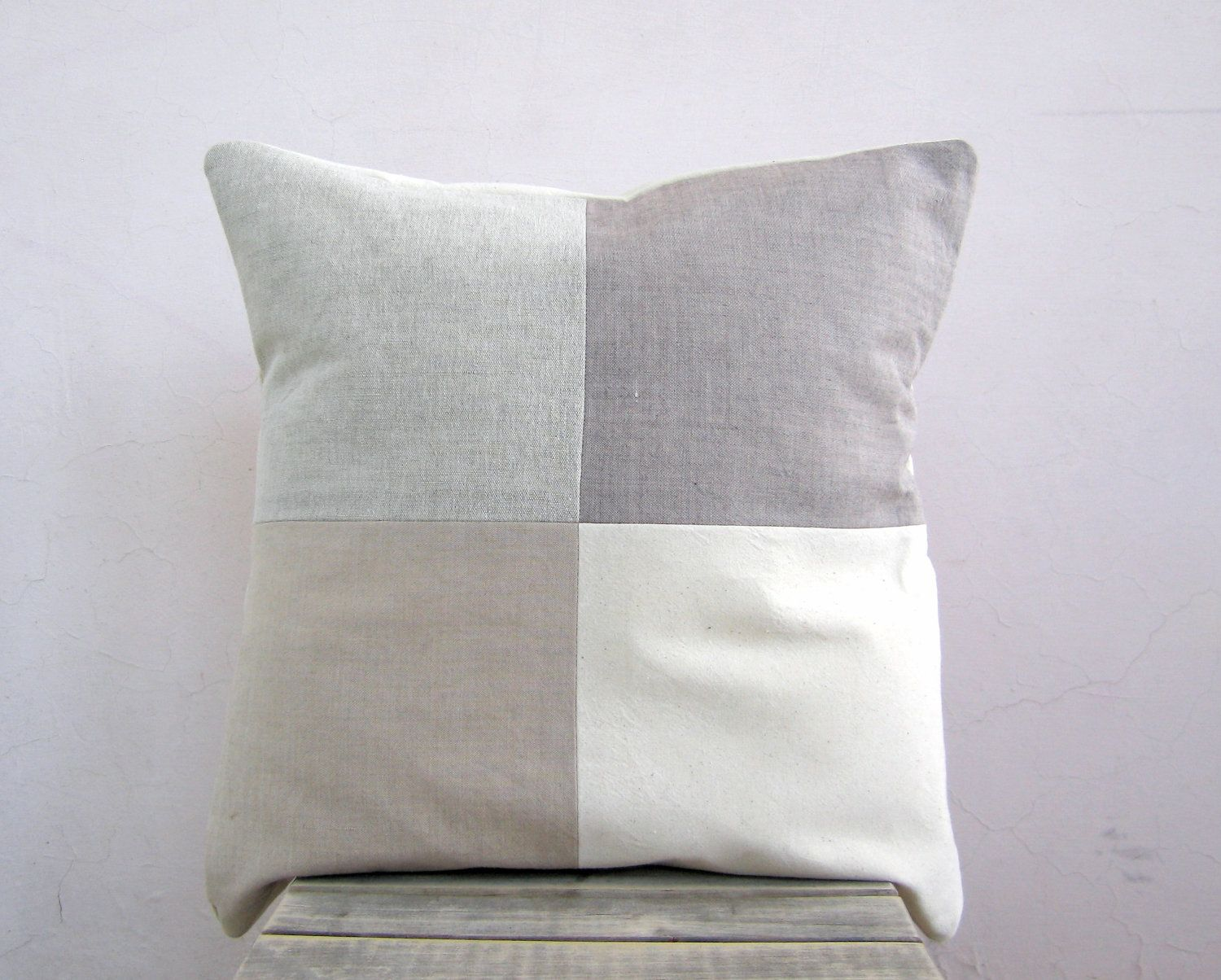 Modern neutral throw pillow organic cotton rustic