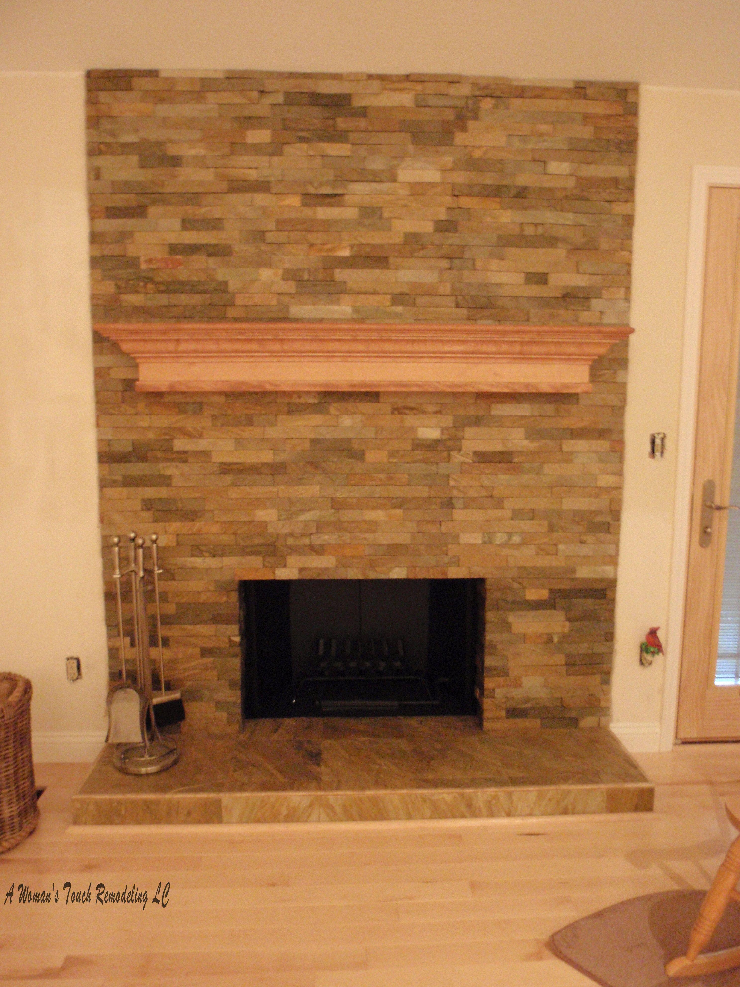 slate tile fireplace surround. slate tiles for fireplace I like flat look  Suzanne Living Room Pinterest Tiled