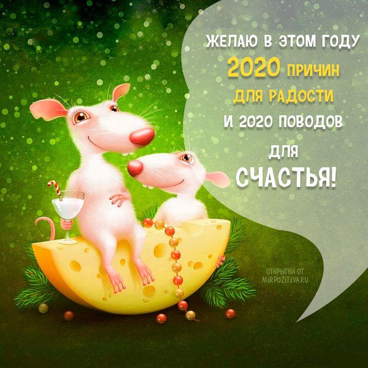 Красивые картинки с новым 2020 годом крысы с пожеланиями