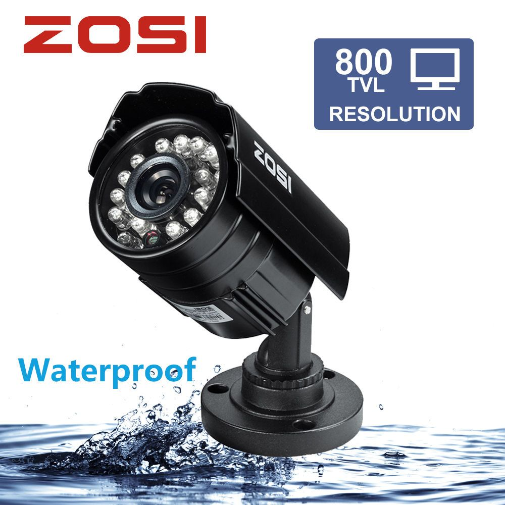 8842cc7a26d7e ZOSI 1 3 Color CMOS 800TVL Bullet Mini CCTV Camera HD Outdoor Black 24 IR  Leds Day Night Security Home Video Surveillance Camera