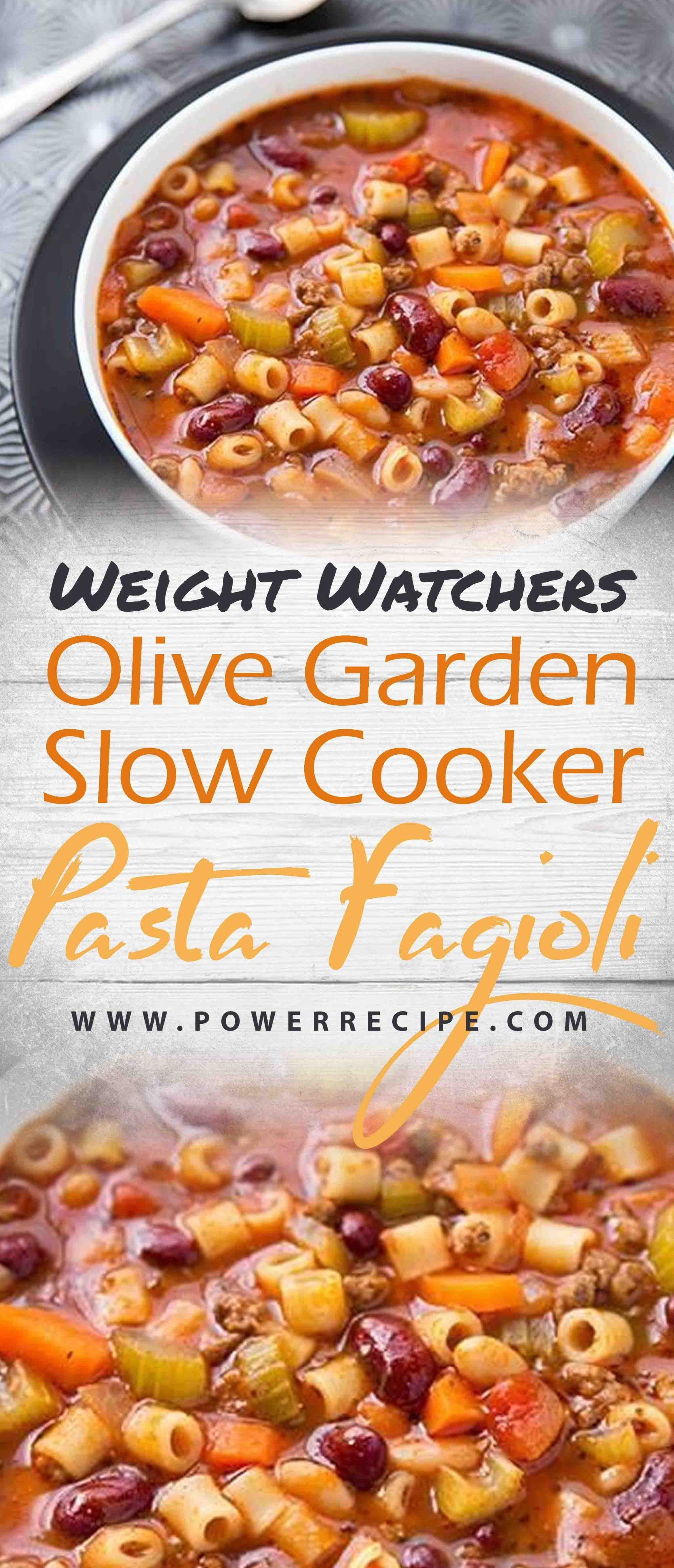 Olive garden slow cooker pasta fagioli recipe all about - Low calorie meals at olive garden ...