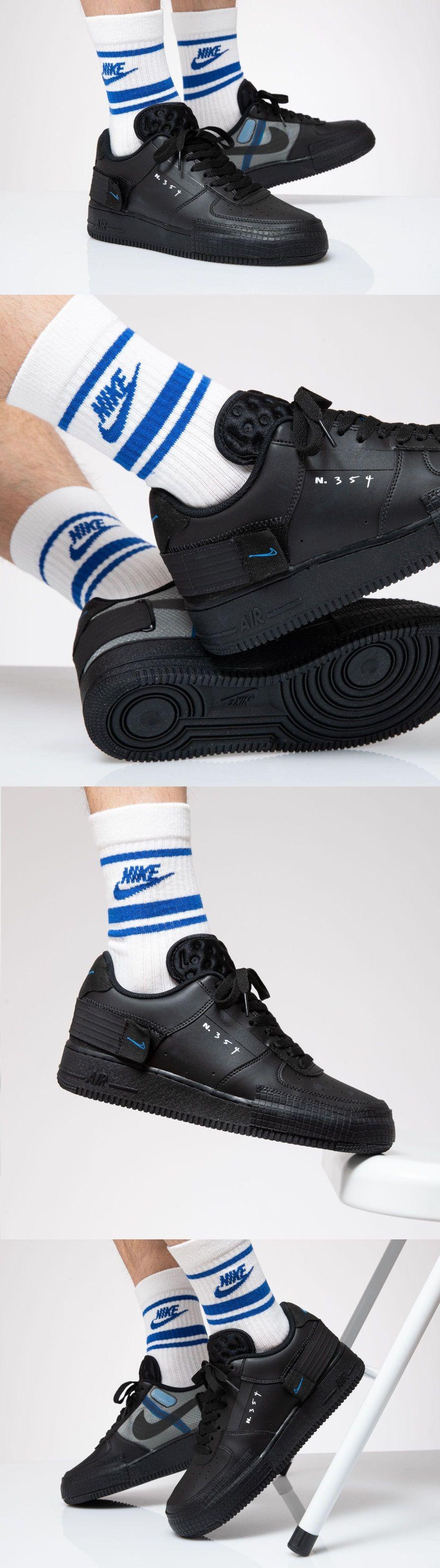 Nike #AirForce1 #Drop Type N.354 #Triple #Black #Photo #Blue ...