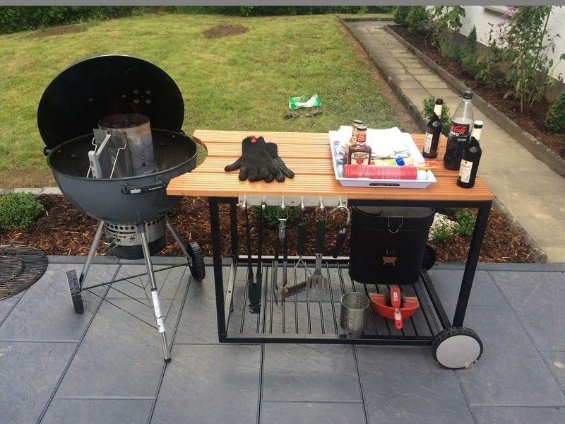 Weber Holzkohlegrill Forum : Weber er grill tisch made by me weber grillzubehör