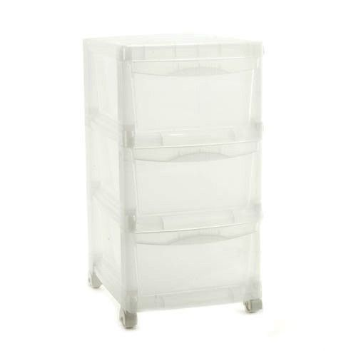 Small 3 Drawer Translucent Chest Available From Storables.com