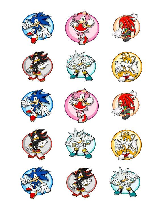 Sonic Edible Cupcake Toppers Sonic Birthday Parties Sonic Birthday Sonic Party