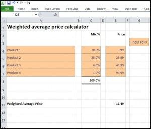 Weighted Average Price Calculator Plan Projections Weighted Average Price Calculator How To Plan