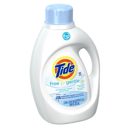 Tide Free Gentle He Turbo Clean Liquid Laundry Detergent 64