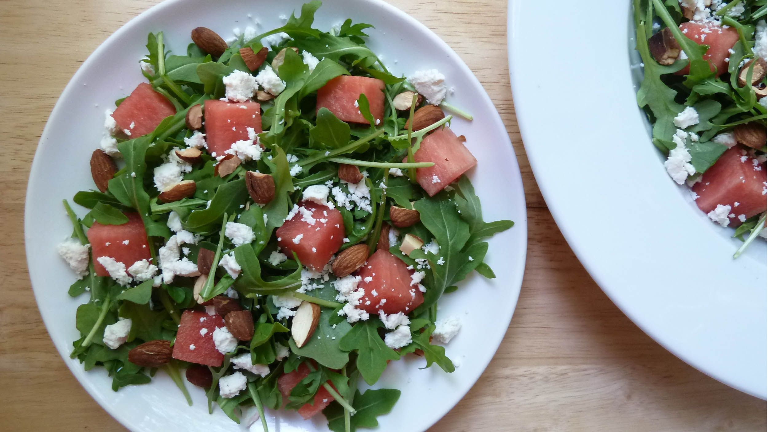 This simple and healthy watermelon salad makes a great summer addition to any meal.