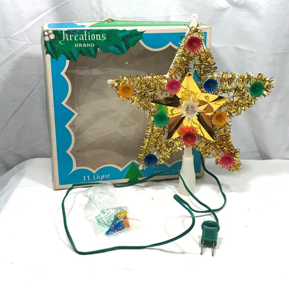 Details about christmas tree topper light star up color changing led
