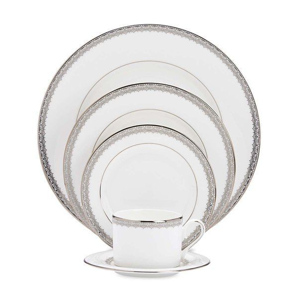 Lenox Lace Couture 5-Piece Dinnerware Set Service for 1 | Formal dinner Dinner table and Place setting  sc 1 st  Pinterest & Lenox Lace Couture 5-Piece Dinnerware Set Service for 1 | Formal ...