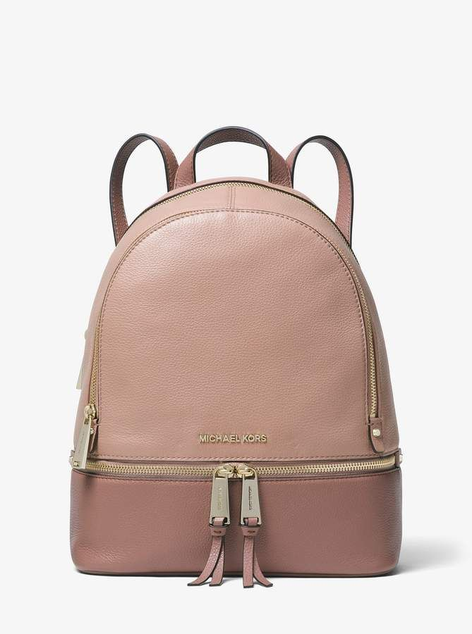 0dfcaa290a261f MICHAEL Michael Kors Rhea Medium Color-Block Pebbled Leather Backpack
