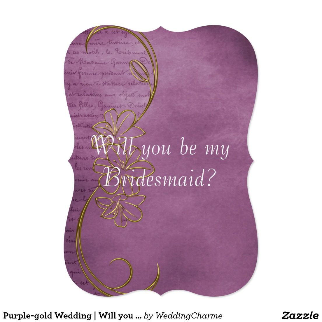 Purple-gold Wedding | Will you be my Bridesmaid