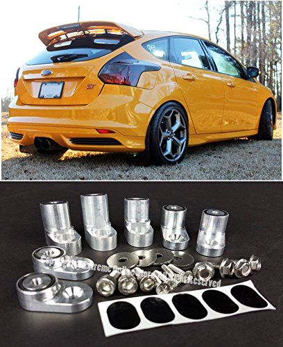 Amazon Com For 13 Up Ford Focus St Rs 5dr Hatchback Anodized Silver Rear Wing Spoiler Riser Extender Kit 2013 2014 2015 2 Ford Focus St Ford Focus Hatchback