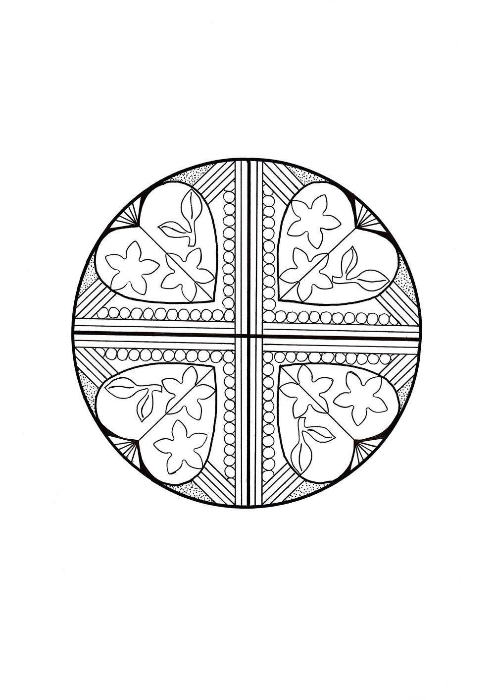 Heart Quartet Mandala Coloring Page | Mandala coloring, Mandala and ...