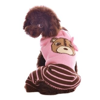 Bear Sweater Dog Jumper by Dogo - Pink