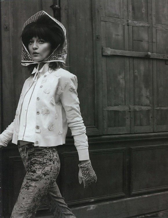#model : Irina Lazareanu   #blackandwhite #vintage #retro #beauty #bighair #fashion #street #style