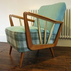 Delightful Interior Design | Decoration | Home Decor | Furniture | 1950u0027S  Reupholstered Southbank Chair | Come