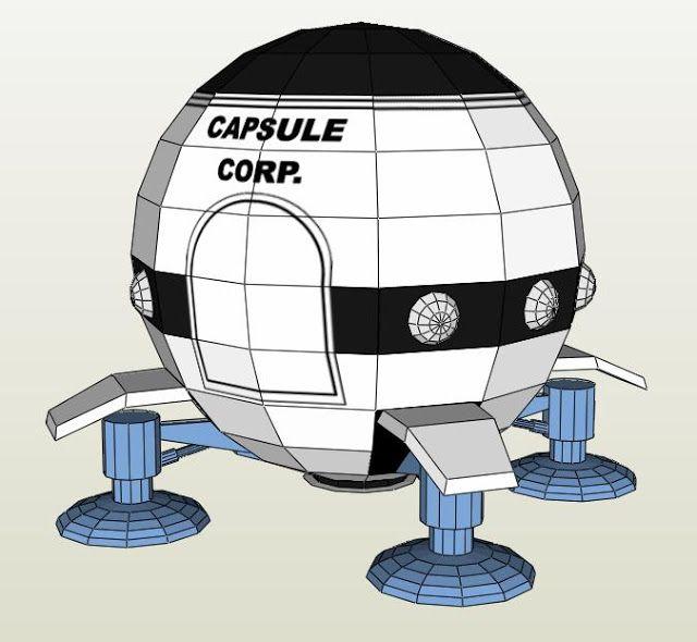 Goku Space Ship 1 Paper Model