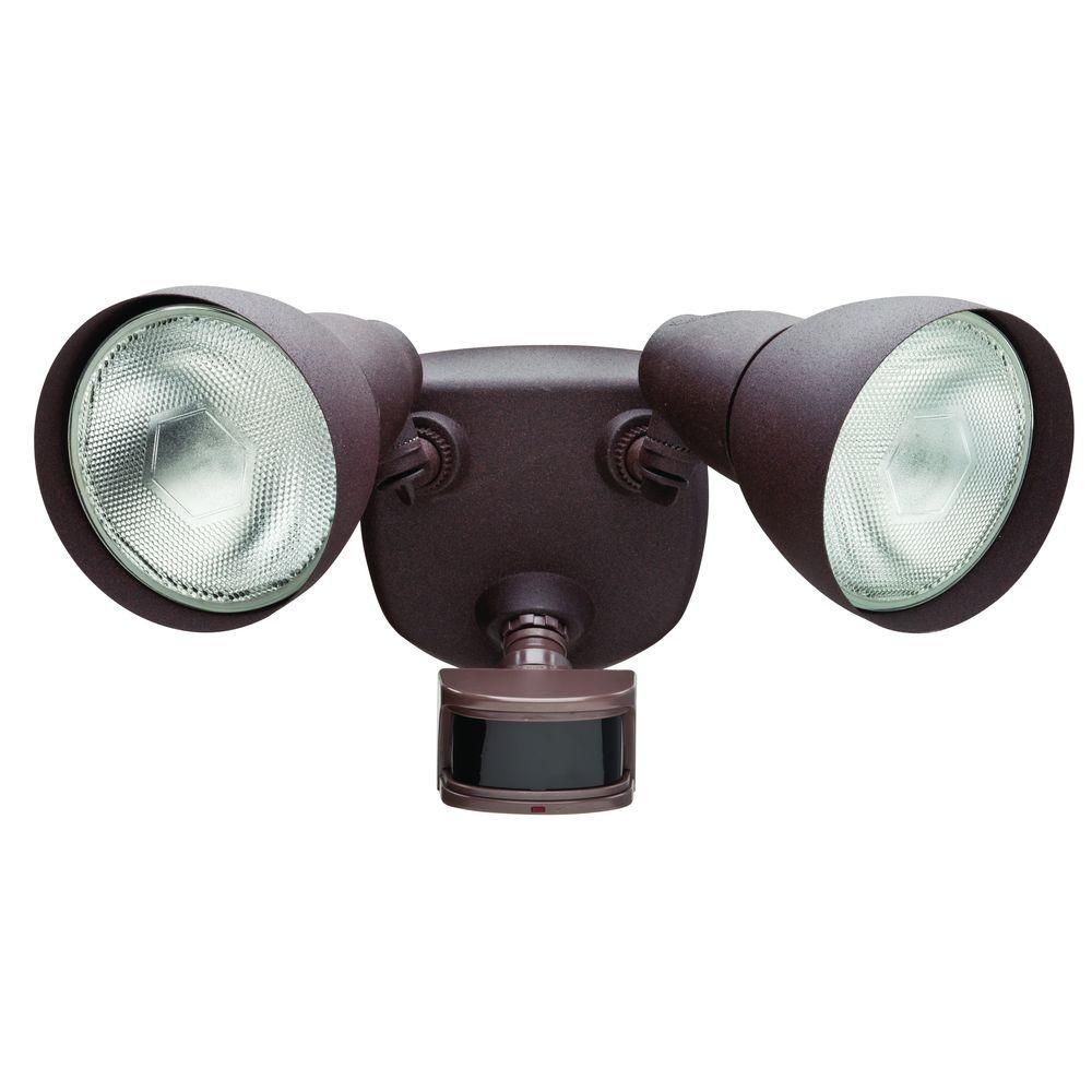 Defiant 270 Degree Rust Motion Outdoor Security Light DF 5718 RS D