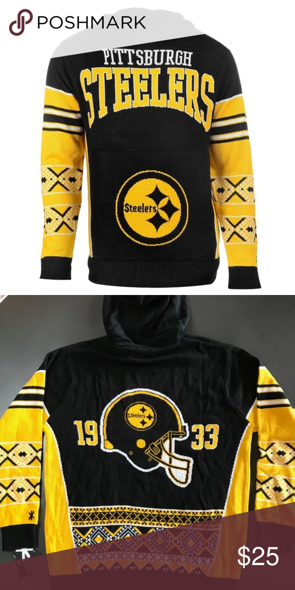 Pittsburgh Steelers Big Logo Hooded Sweater Brand New Officially Licensed  with tags. This super soft cozy Steelers Hooded Sweater can be worn to  games 283abf338
