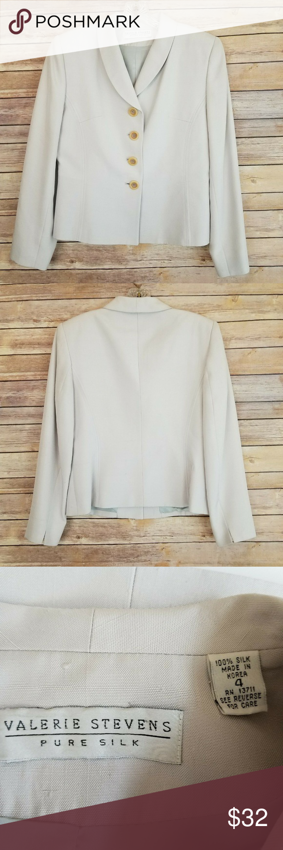Clothing, Shoes & Accessories Gentle Women's Blazer Long Sleeve Size 4p Suits & Suit Separates