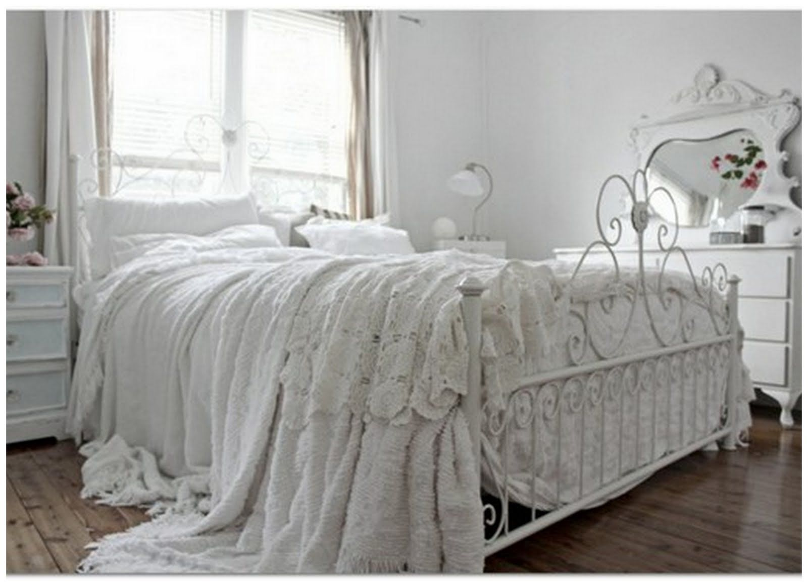 Country Chic Bedroom Image Result For White Wrought Iron Bed  Home  Pinterest  Bed
