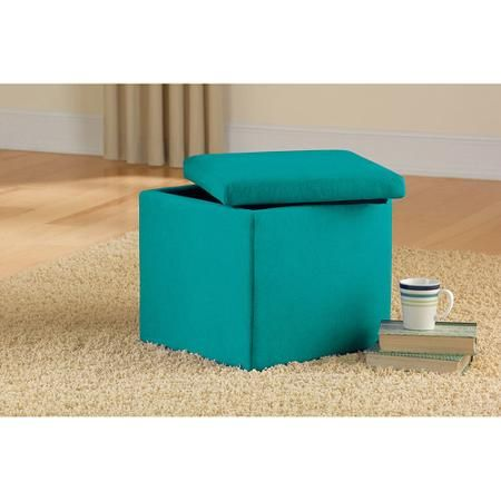 Mainstays Faux Suede Ultra Storage Ottoman, Multiple Colors - Walmart.com