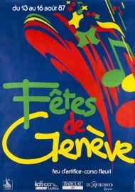 Fêtes de Genève, du 13 au 16 Août 1987