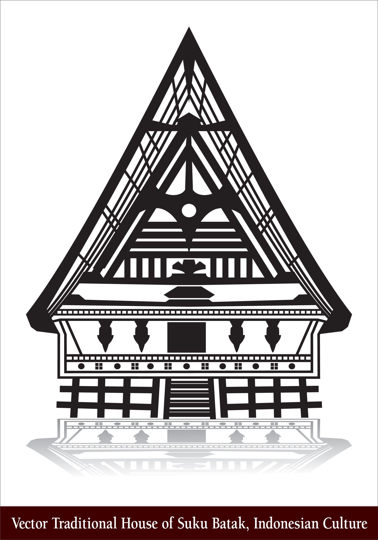 Rumah Adat Vector : rumah, vector, Vector, Traditional, House, Batak,, Indonesian, Culture, House,, Indonesian,