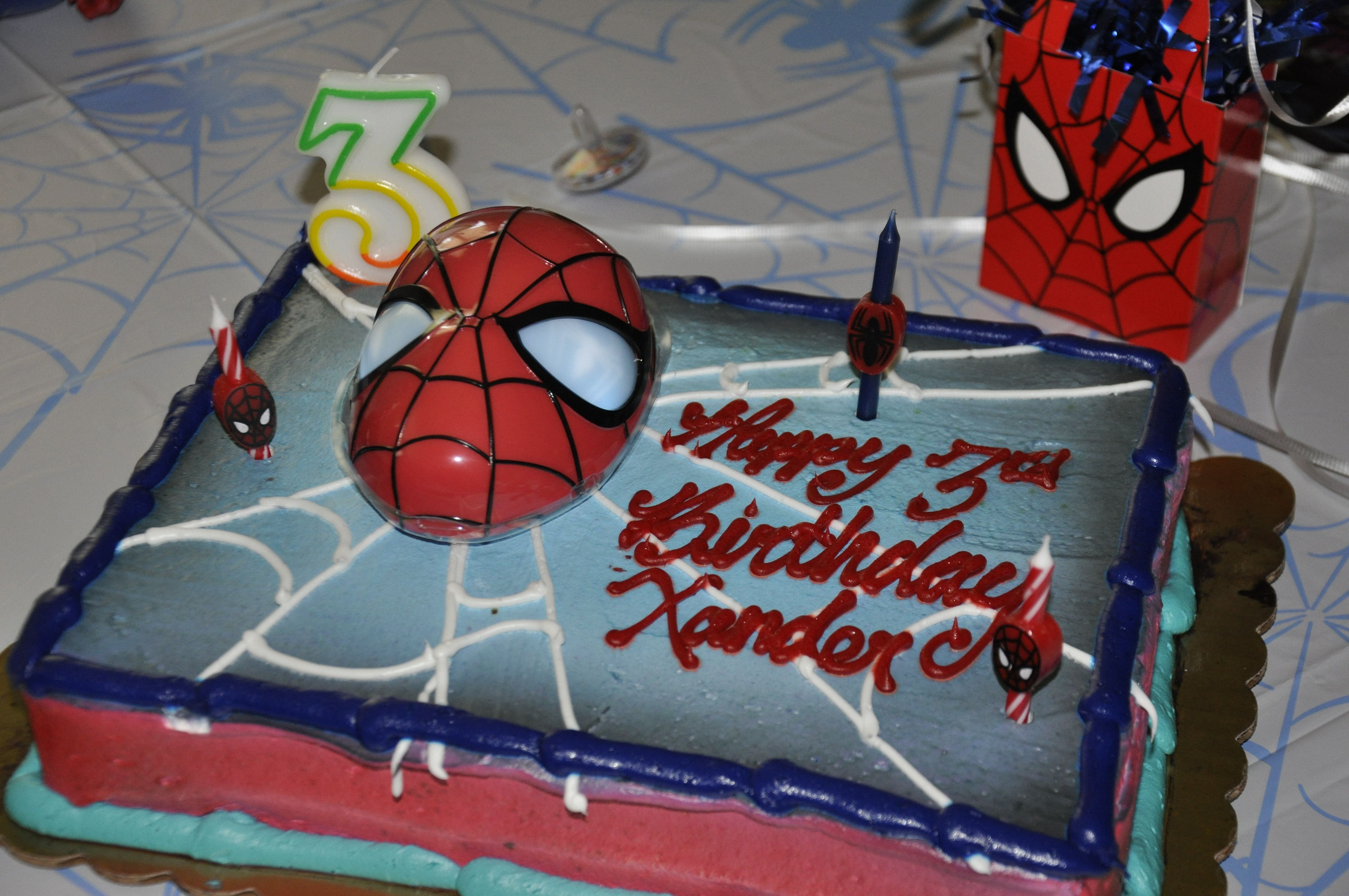 spiderman cake from King Soopers Spiderman party Pinterest