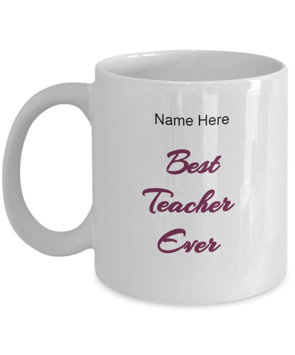 Best teacher ever custom mug by isaartgifts on etsysee