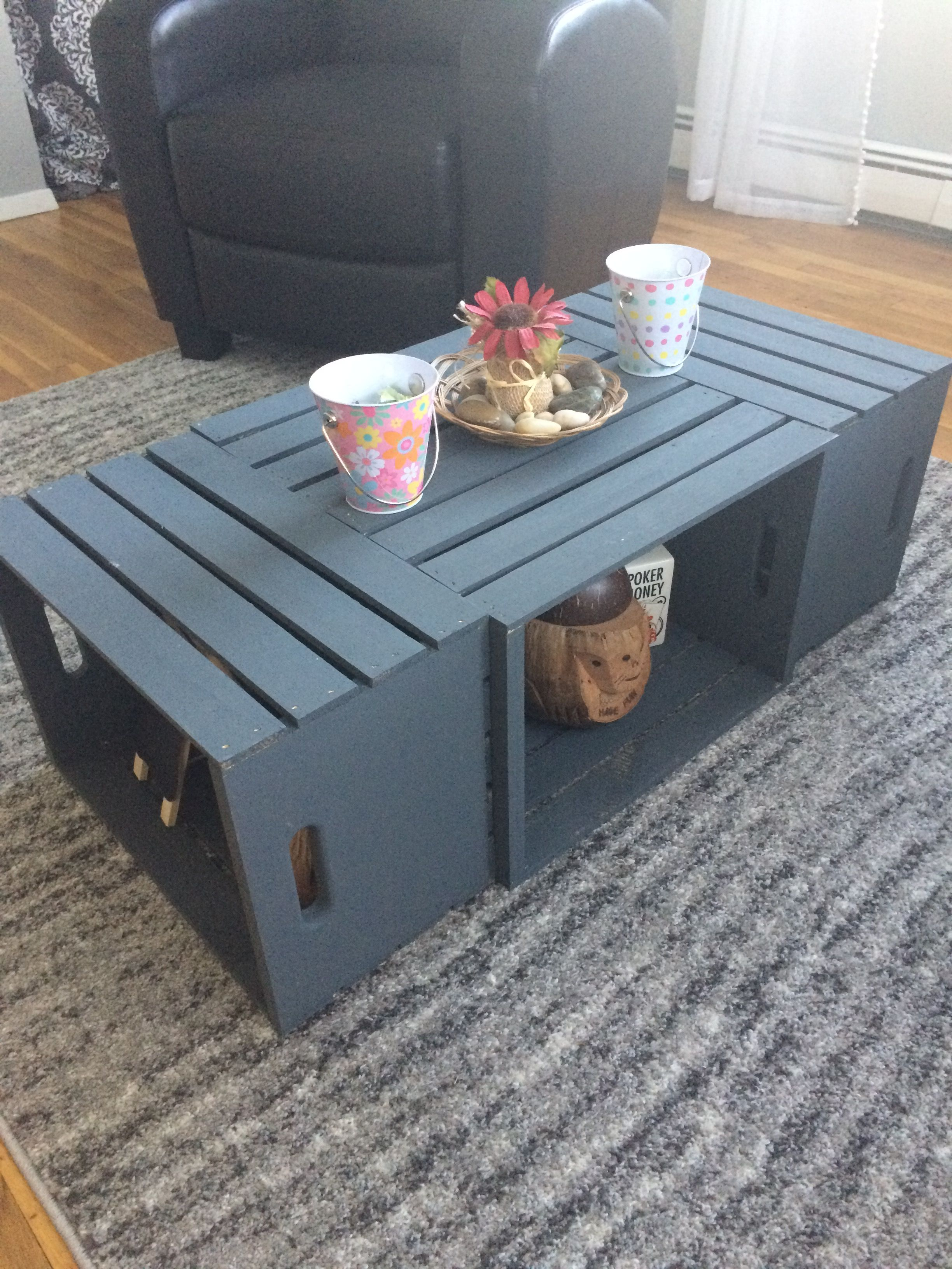 Wine Crate Coffee Table Crates Are Painted In Martha