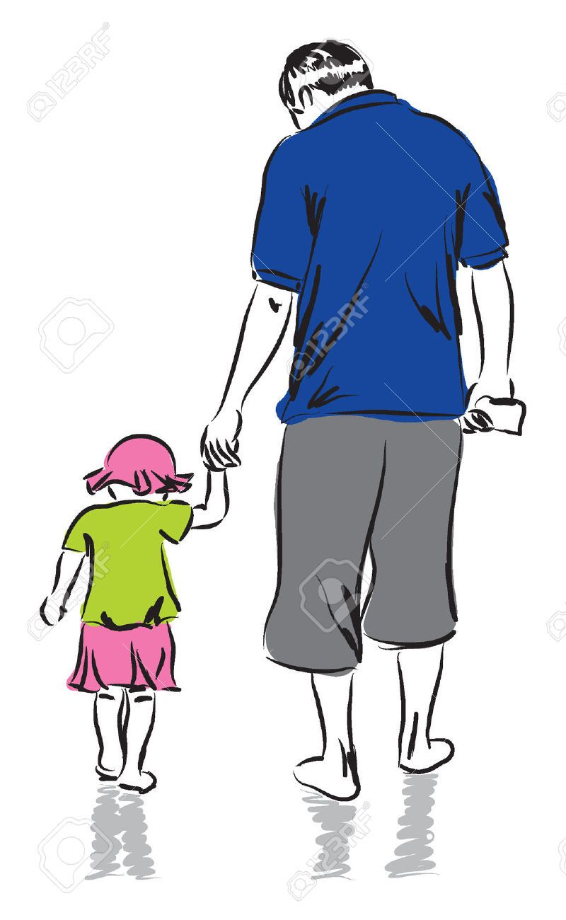28499464 Father And Daughter Illustration Father Drawing Jpg 800