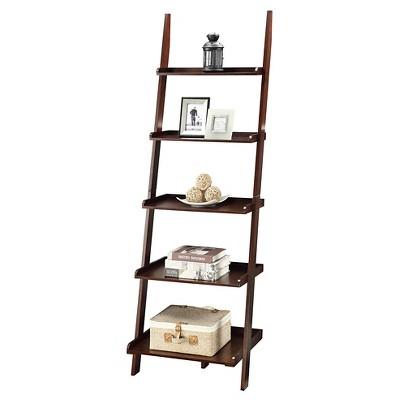68263f8822 American Heritage Bookshelf Ladder Espresso - Convenience Concepts, Brown