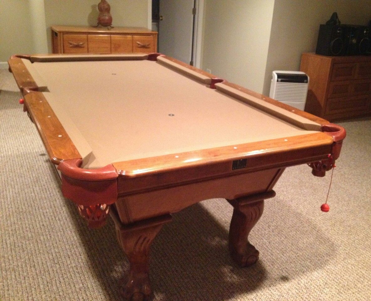 Kasson Billiards Ball Claw Pool Table For Sale SOLD Sold Used - 8ft kasson pool table