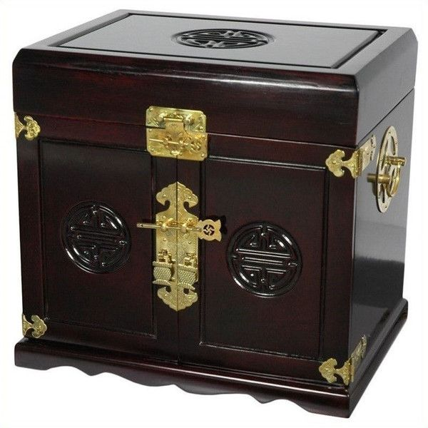 Oriental Furniture Jewelry Box (1.100 RON) ❤ liked on Polyvore featuring home, home decor, jewelry storage, jewelry box, jewelry-box, asian inspired home decor, lacquer jewelry boxes and asian jewelry box