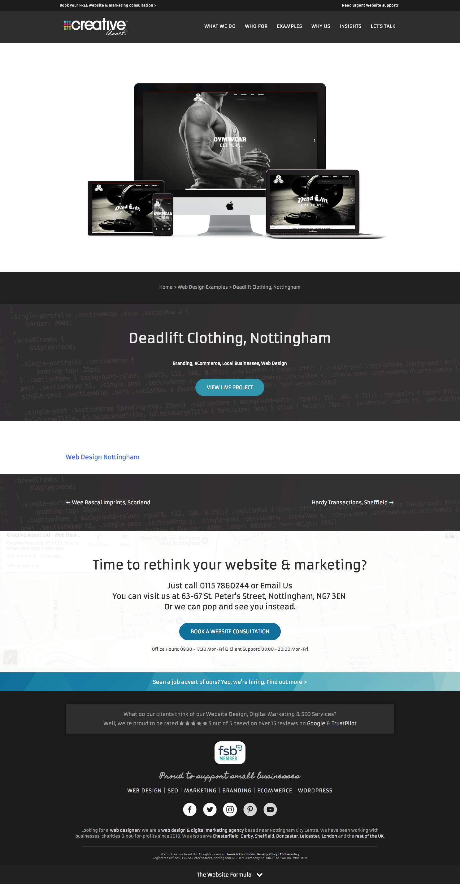 Deadlift Gym Clothing Brand Website Design Online Web Design Online Marketing Agency