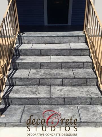 Amazing Stamped Concrete, Decorative Concrete, Concrete Overlay, Stairs, Front  Porch, Www.