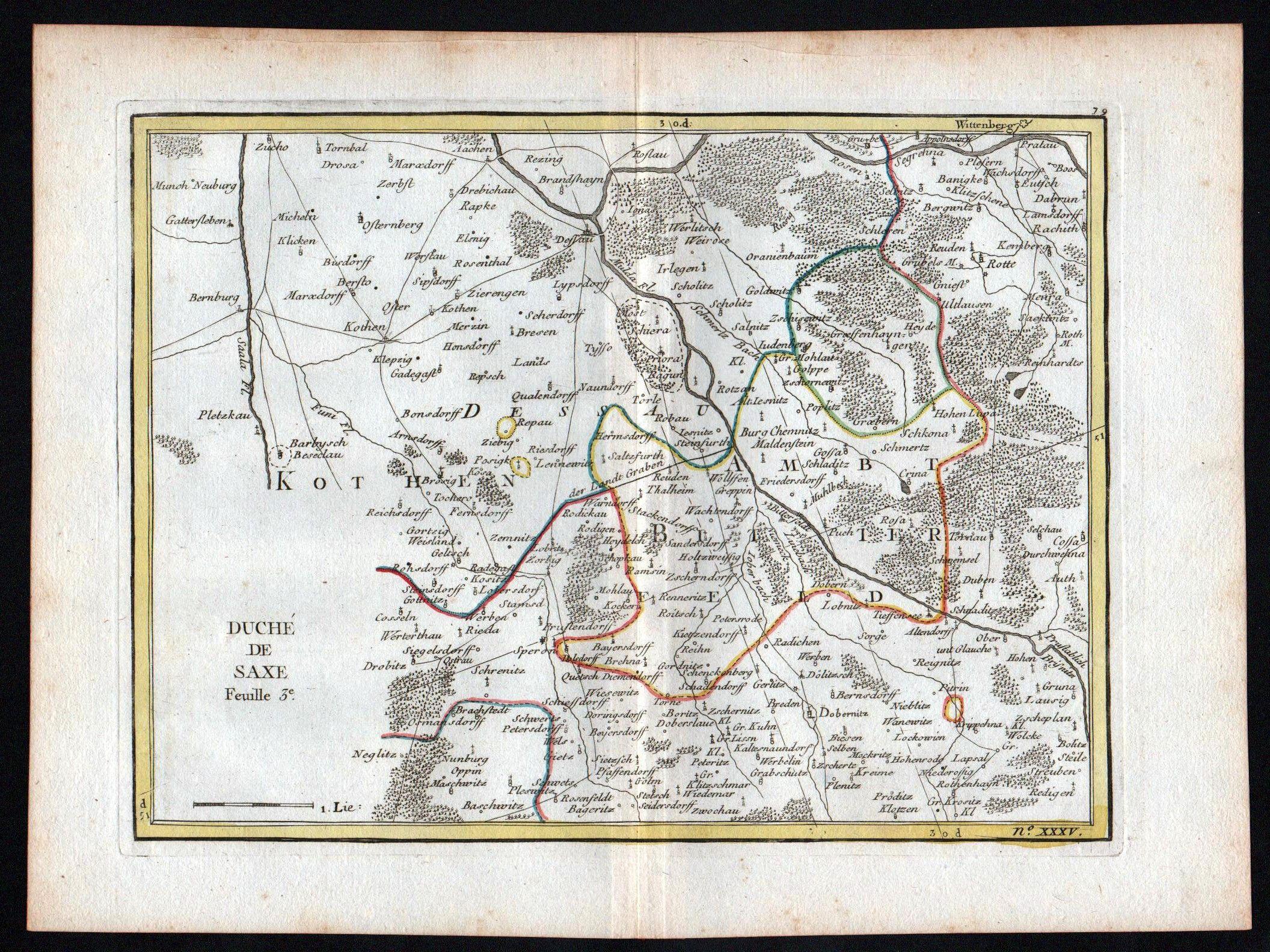 Le Rouge Georges Louis 17071790 Saxe Feuille 3 Bitterfeld