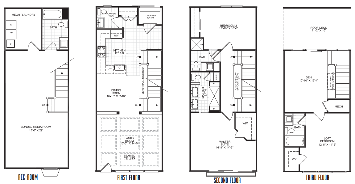 Narrow row house plans 28 images house plans the o for Narrow row house floor plans