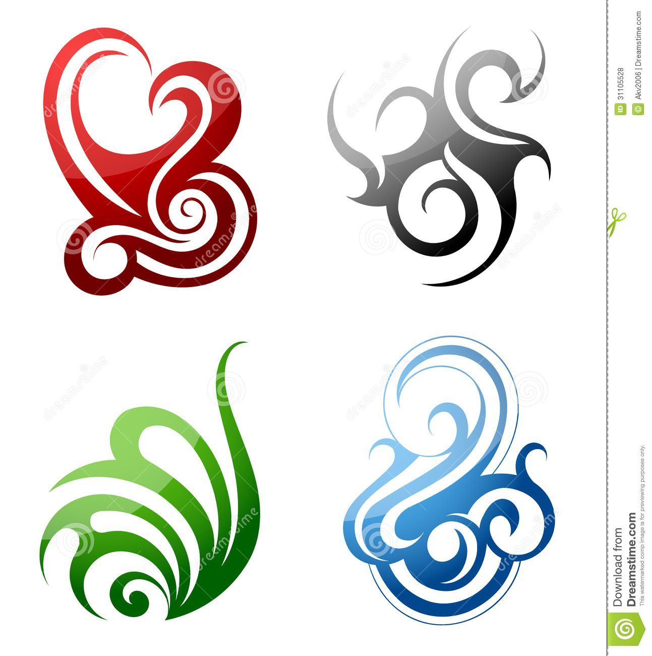 Design Elements Fire Water Grass Wind Set Graphic Tribal Art Style 31105528 Jpg 1293 1300 Elements Tattoo Element Symbols Symbolic Tattoos