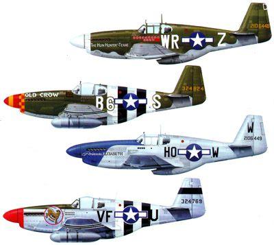 P-51 Mustang Paint Schemes   aircraft painting schemes p 51b mustang