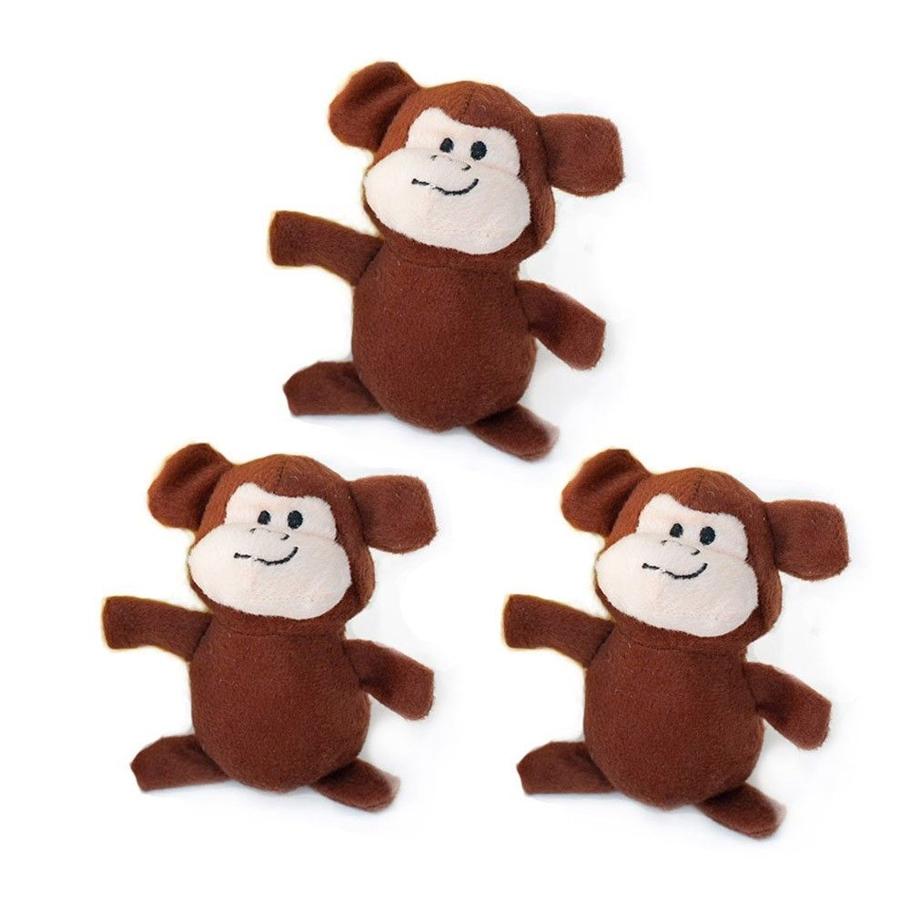Interactive Dog Toys Zippy Paws Miniz Monkeys Dog Toys
