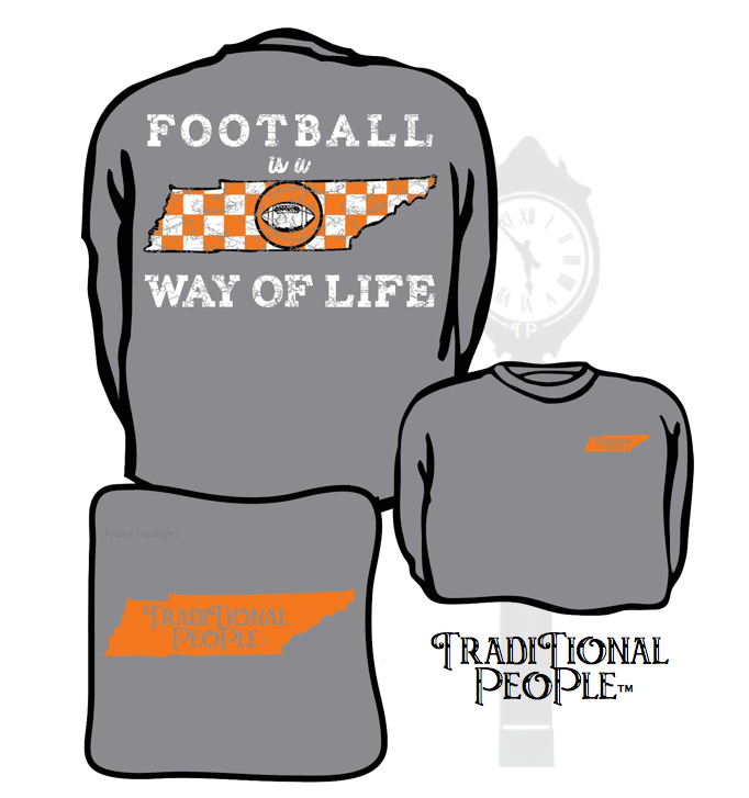 Football is a way of life - Traditional People #Tennessee #Football #StatePride