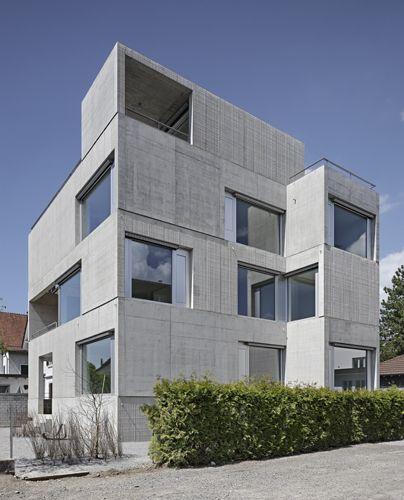 wohnhaus in uster, wild bär heule architekten | fassade | pinterest, Innenarchitektur ideen